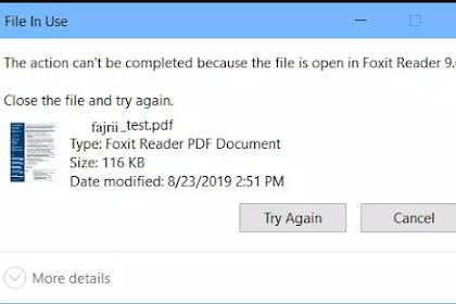 7 Cara Menghapus File yang Digunakan Oleh Program Lain Pada Windows