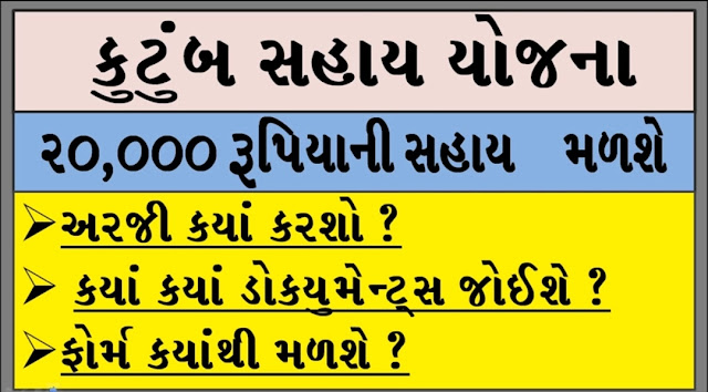 [Latest Scheme] Kutumb Sahay (Familly Assistance) Scheme In Gujarat