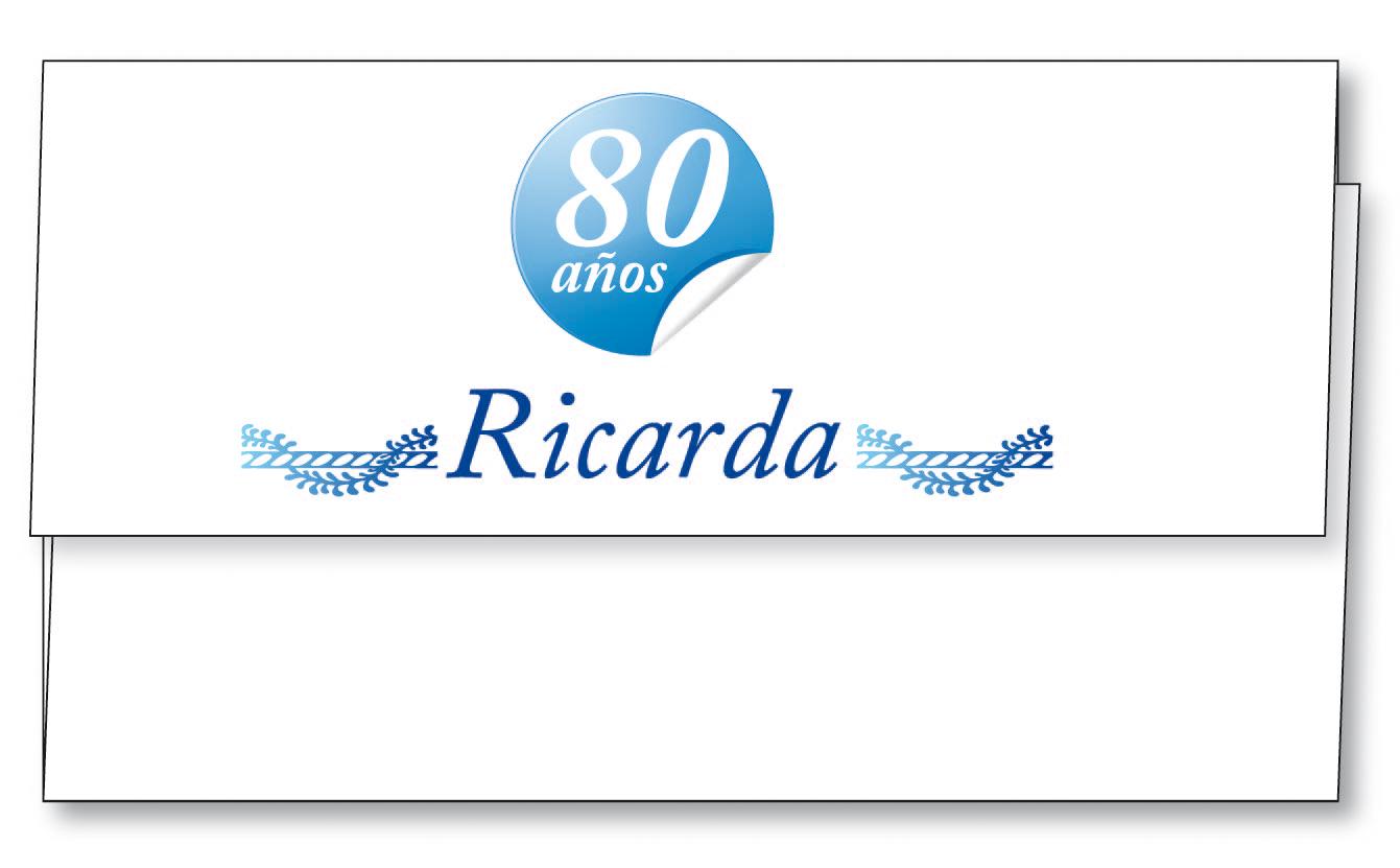 Molinete Cumpleaños 80 Años