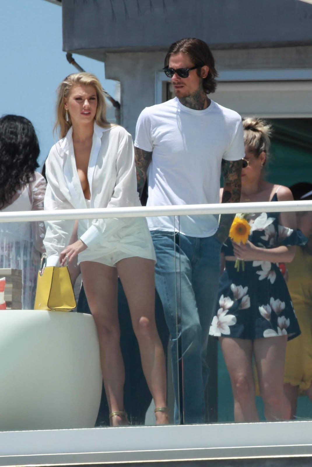 Charlotte McKinney Attends a Malibu beach house party in Los Angeles