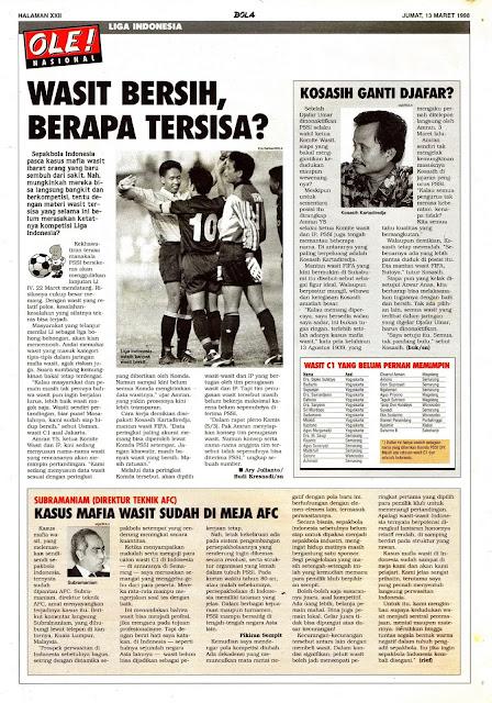 LIGA INDONESIA: WASIT BERSIH, BERAPA TERSISA