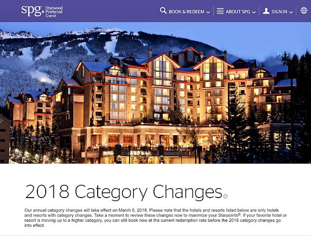 2018喜達屋SPG 酒店等級調整 3月6 日生效,近期入住點數房可以提早預定