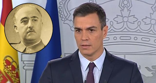El Gobierno de Pedro Sánchez rechaza aclarar si considera a Franco jefe del Estado desde 1936 como hace el Supremo