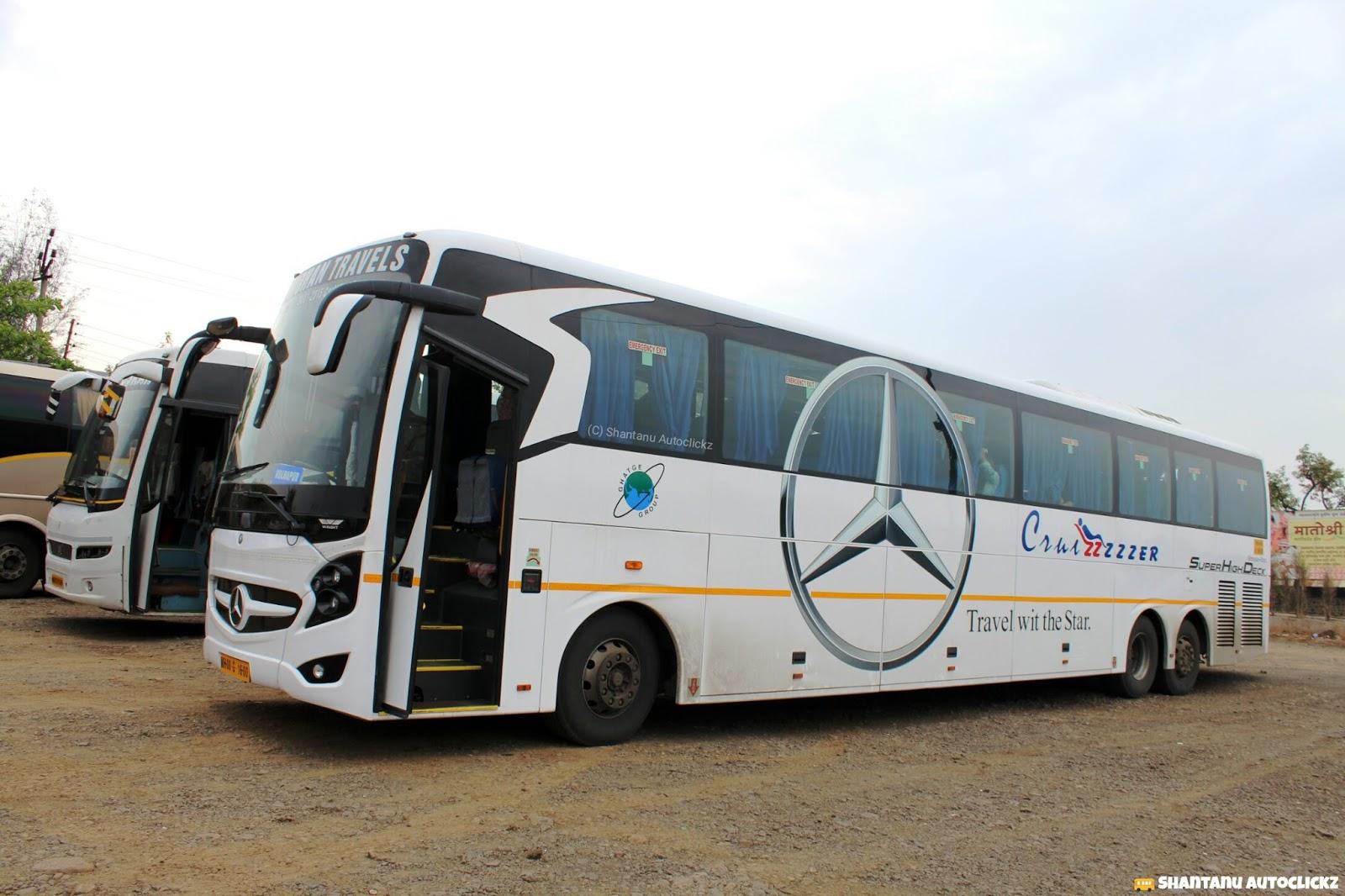 Shantanu autoclickz gpt mohan travels mercedes benz super for Mercedes benz coach