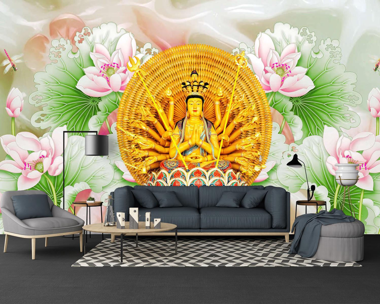 Tranh Dán Tường 3D Phật Bà