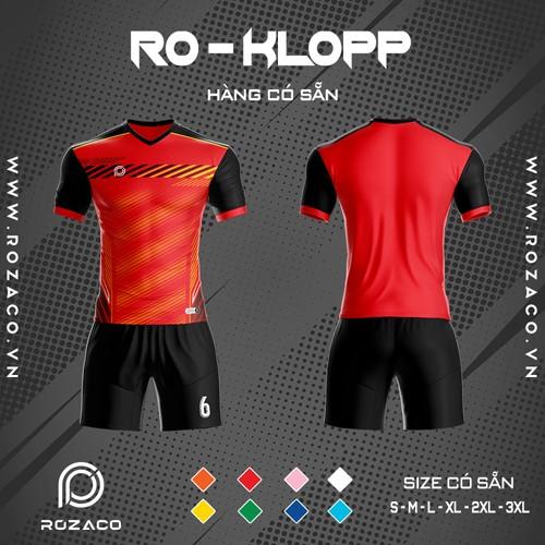 Áo Không Logo Rozaco RO-KLOPP Màu Đỏ