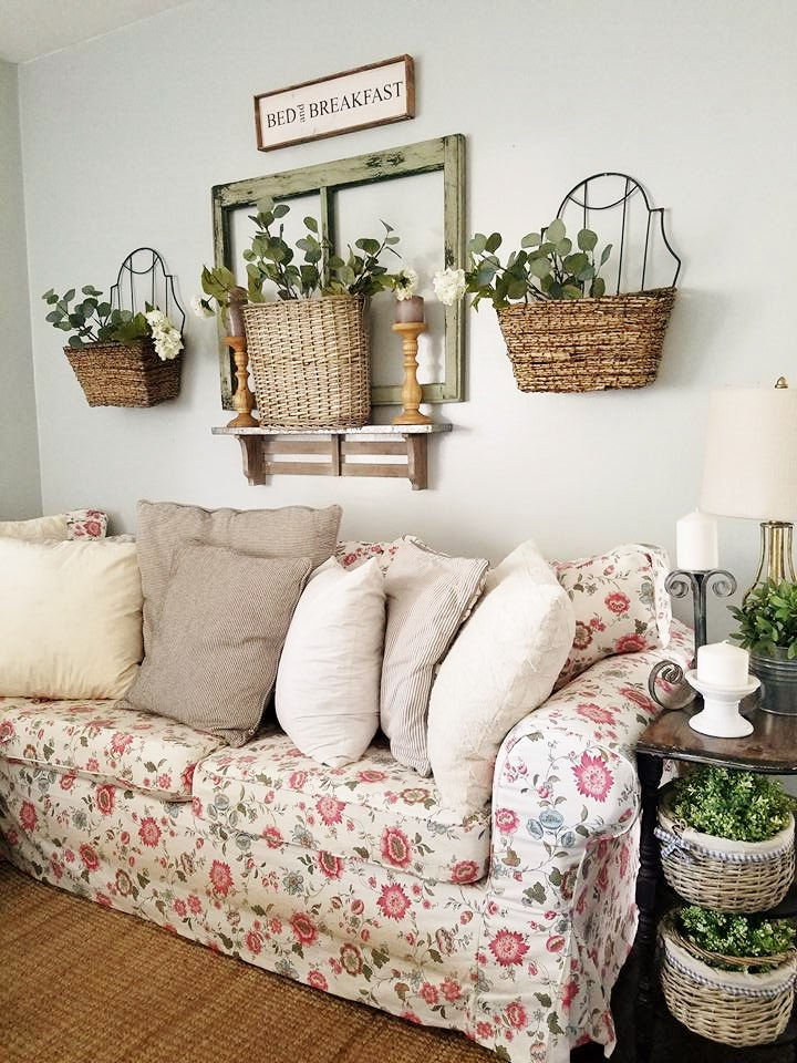 Wall Decor Using Baskets : The quaint sanctuary garden style summer living room