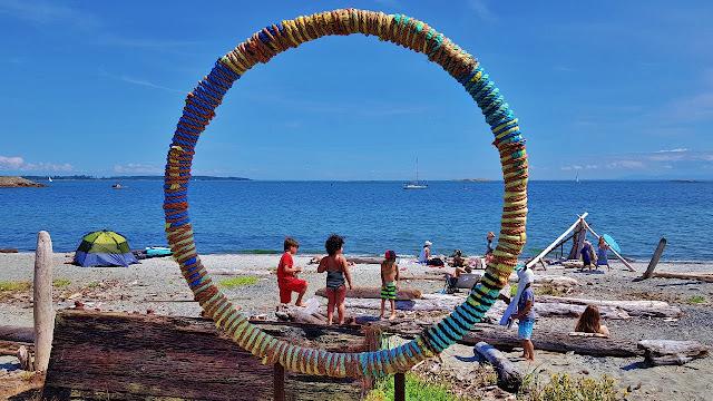 Public art installation in Oak Bay on Vancouver Island...