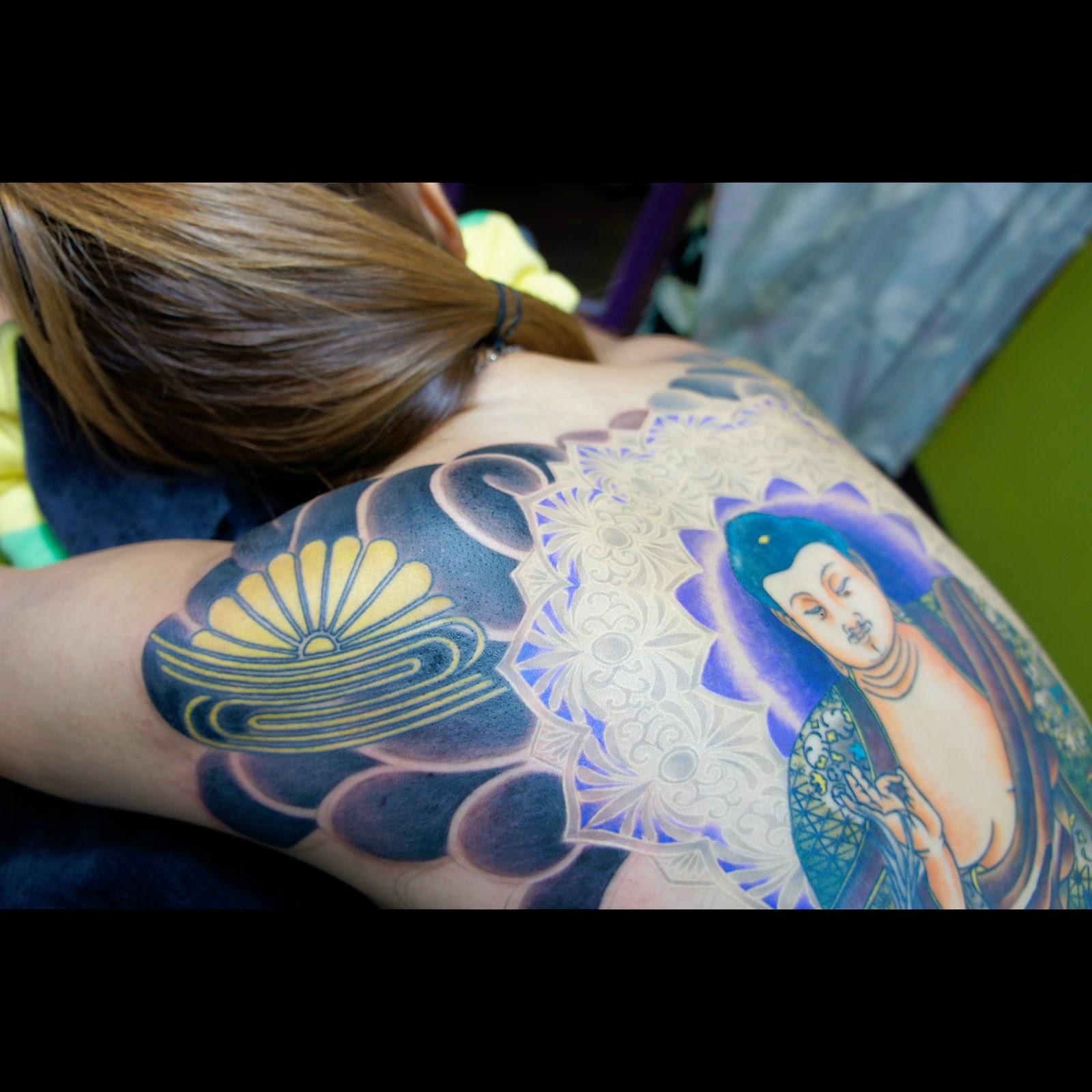 タトゥー TATTOO  刺青 和彫 額 阿弥陀如来