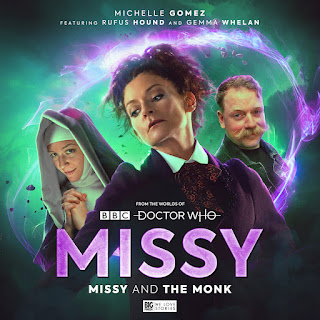 Michelle Gomez, Gemma Whelan and Rufus Hound all dressed in character