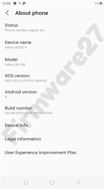Infinix Note 6 (X610B) Firmware