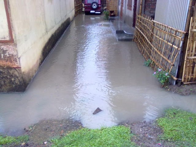 Drainage system under LakhipurMB is not draining water. It is a flop show.