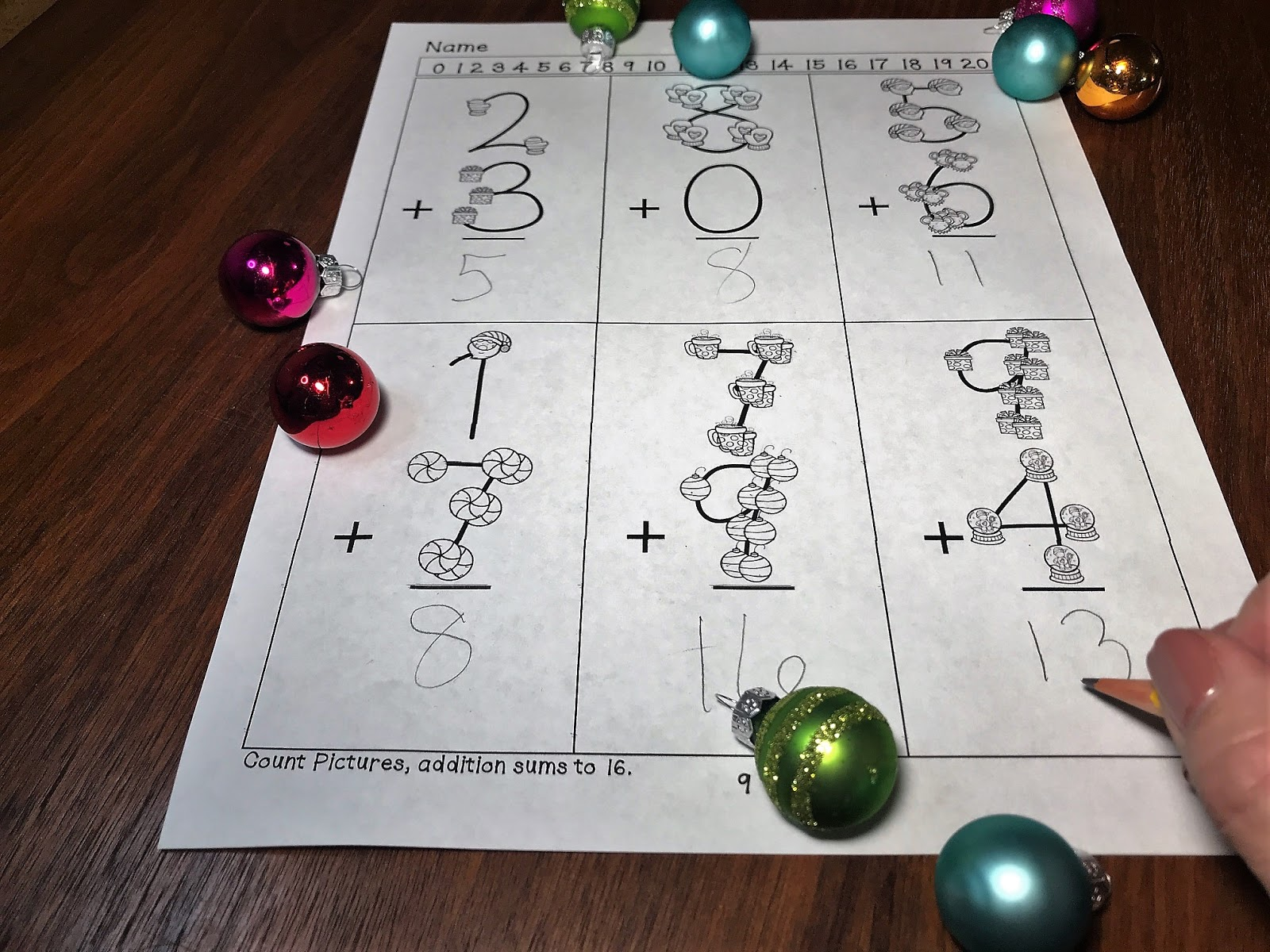 Lisa Goodell Christmas Touchmath Supplement Worksheet Packet