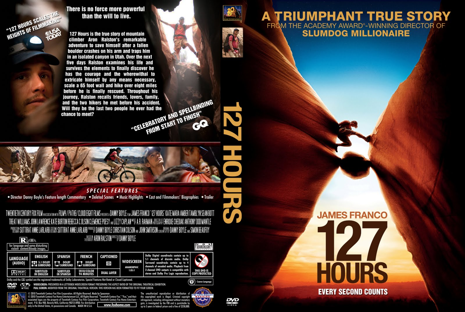 dvd covers and labels 127 hours