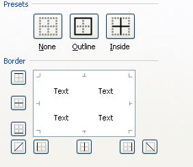 format cells untuk membuat tabel