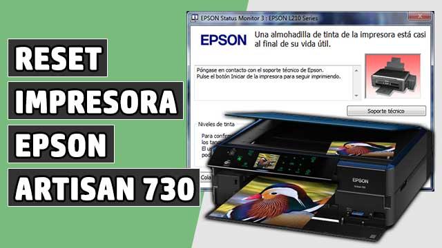 resetear Almohadillas impresora EPSON Artisan 730