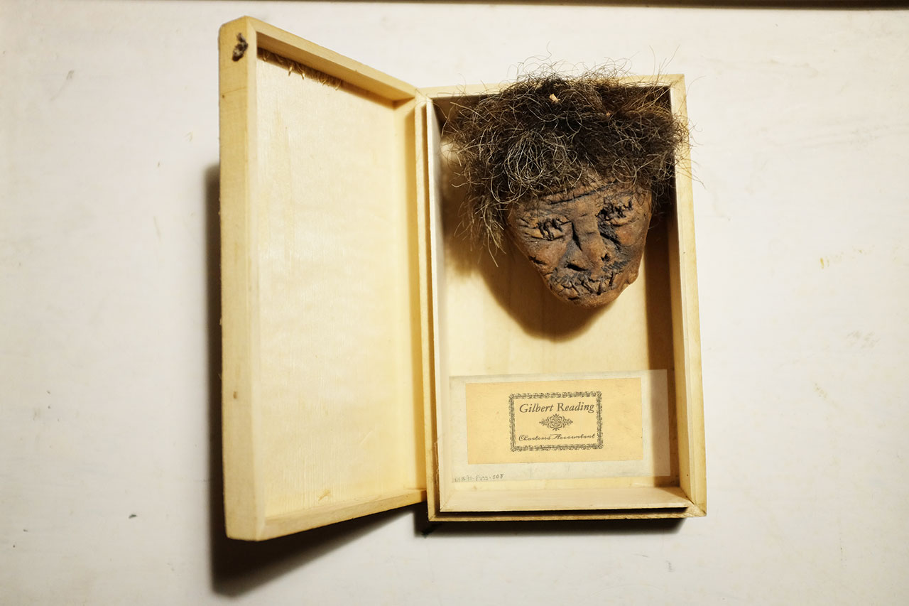 Gilbert Reading's Shrunken Head © Graeme Walker / The Pebble Museum 2019