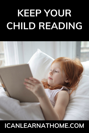 One of the most important tips for distance learning is to keep your child reading. Check out this post for five survival tips every parent needs.