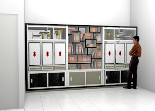 Furniture Interior Semarang  Lemari Dan Rak Buku Desain Sendiri Oleh Pemesan