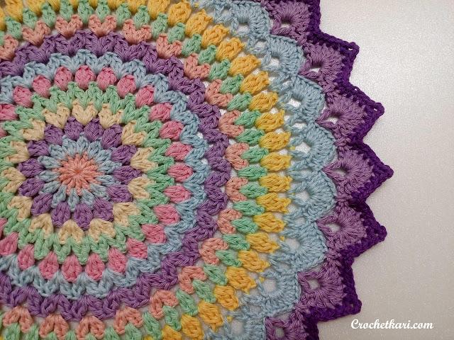crochet lotus mandala