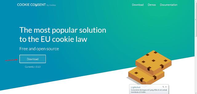 Cara Mudah Memasang Pesan Cookie Di Blog Dengan Cookies Consent