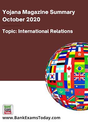 Yojana Magazine Summary: October 2020