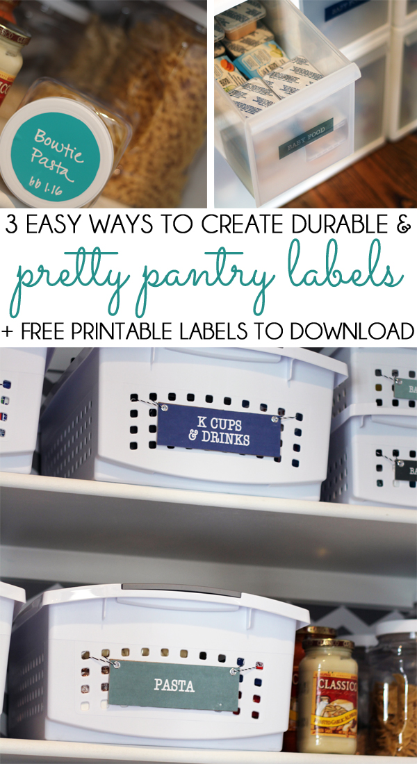 Pretty Pantry Labels Three Ways