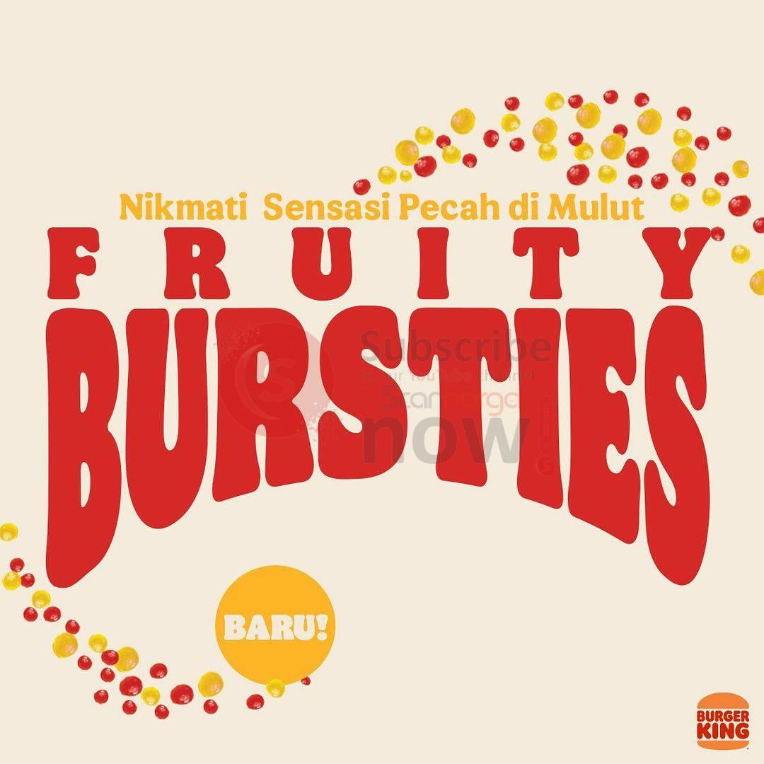 Baru!! Burger King FRUITY BURSTIES SUNDAE 2