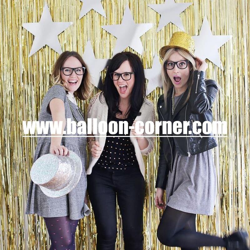 Gold Foil Curtain / Tirai Foil Emas - Balloon Corner