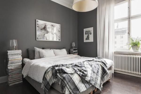 Un apartamento en tonos grises con una habitaci n infantil for Cuarto gris con blanco