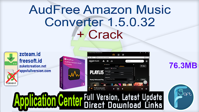 AudFree Amazon Music Converter 1.5.0.32 + Crack_ ZcTeam.id