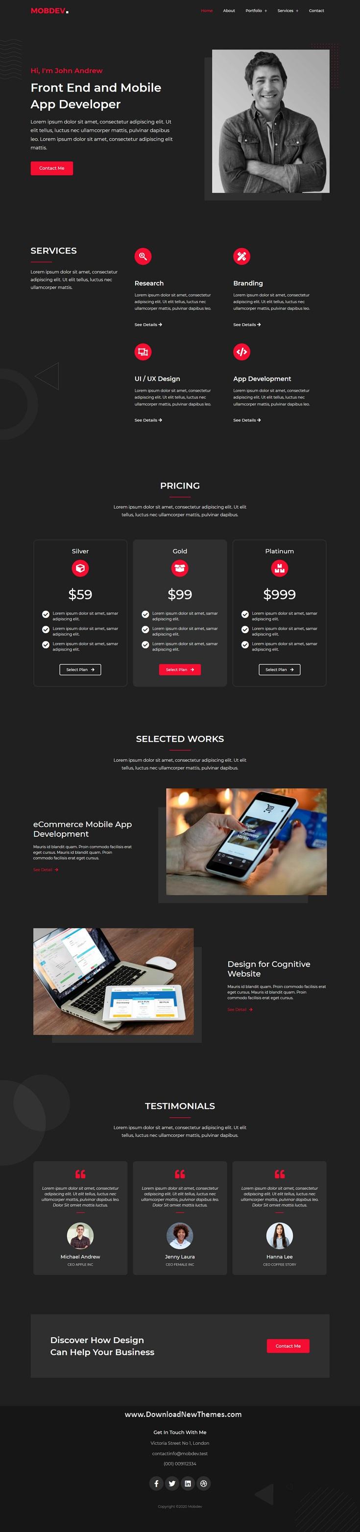 Creative Portfolio & Resume Elementor Template Kit