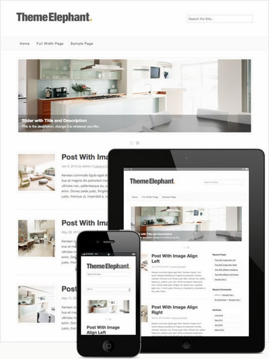 Free Minimal Responsive WordPress Themes