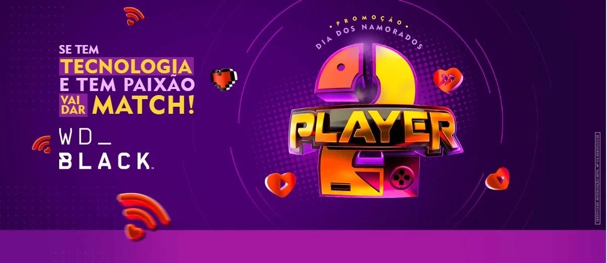 Promoção Kabum Dia dos Namorados 2020 Player 2 - Concorra 2 Notebooks e 2 SSDS