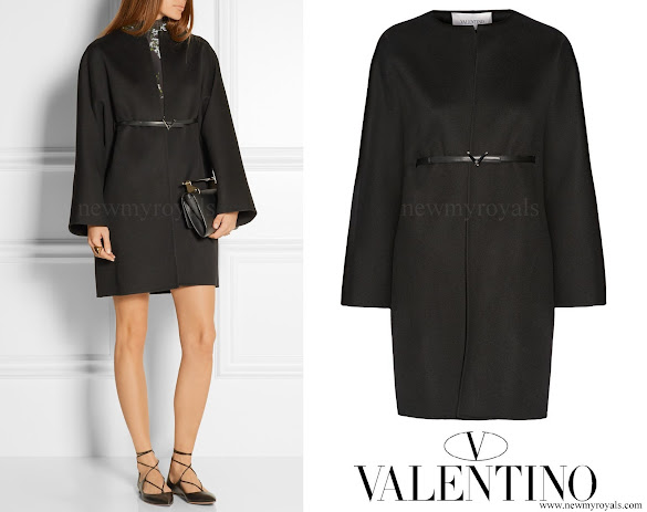 Countess Sophie of Wessex Valentino Belted wool and cashmere blend coat
