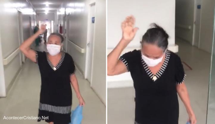 Anciana vence coronavirus