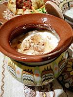 Таратор, Кавърма в омлет и кисело мляко с орехи и мед