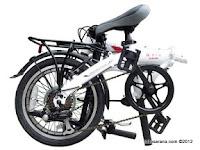 Sepeda Lipat FoldX Sakura 7005 Aluminium Alloy 16 Inci