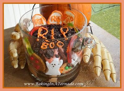 Spooky Trifle | Recipe developed by www.BakingInATornado.com | #recipe #halloween