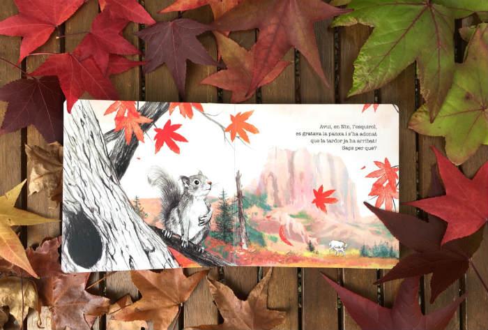 Cuentos libros infantiles sobre la estación del otoño, El otoño ya esta aquí, albert asensio