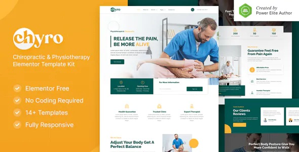 Best Chiropractic & Physiotherapy Elementor Template Kit
