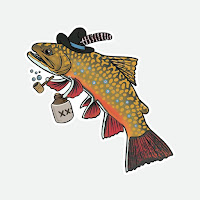 Hill Billy Brook Trout Decal, Rio Grande Cichlid, Rio Grande Cichlid Sticker, Year of the Rio, YOTRio2021, Remedy Provisions, Nate Karnes, Pat Kellner, Fly Fishing, Texas Fly Fishing, Fly Fishing Texas, Texas Freshwater Fly Fishing
