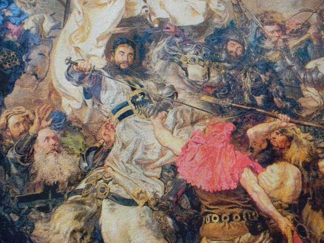 wojna, Krzyżacy, haft, rękodzieło
