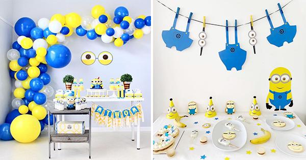 Los Minions: Ideas para Decorar Fiesta de Cumpleaños
