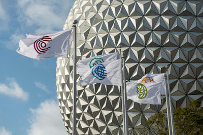 Walt Disney World Resort, WDW, New Entrance Flags at EPCOT (March, 2021)