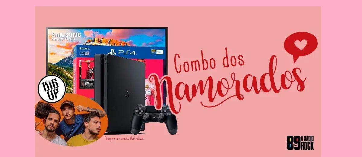 Cadastrar Promoção Rádio 89 Dia dos Namorados 2020 Concorra Combo PS4 Tv e Jogo