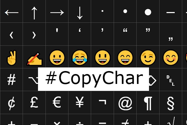 CopyChar - Γράμματα, σύμβολα, emoji και πολλά ακόμη έτοιμα για αντιγραφή-επικόλληση