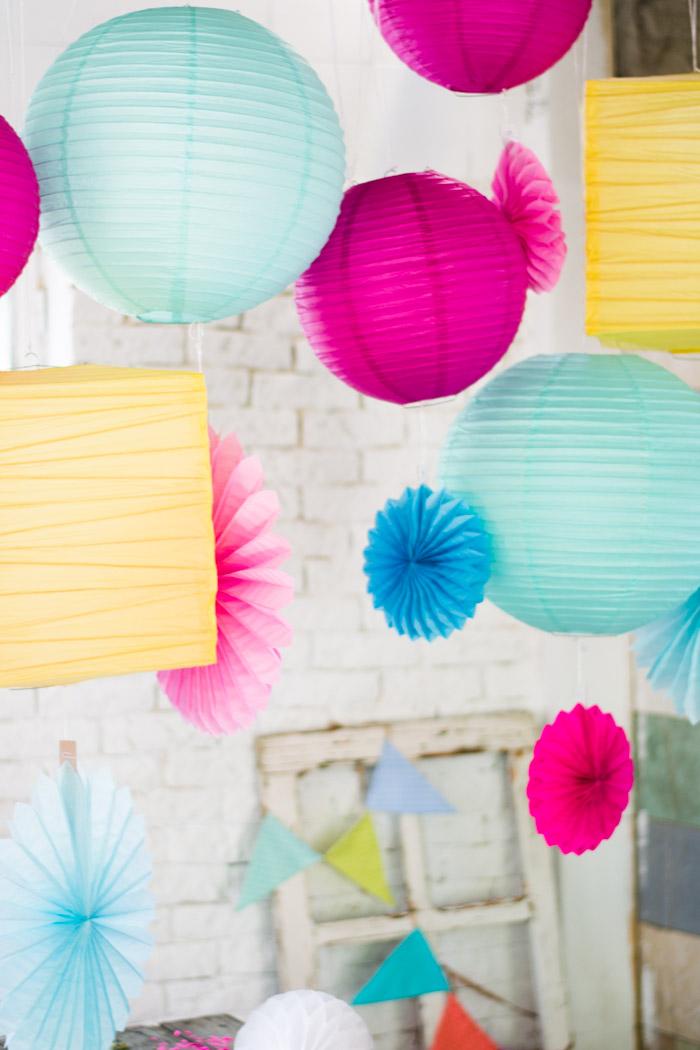 Decoración color fiesta