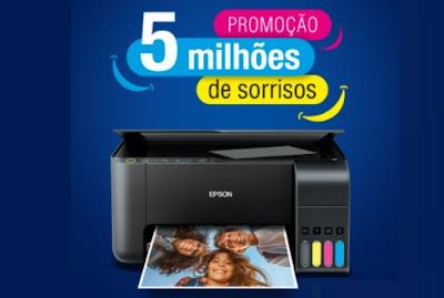 Cadastrar EPSON 5 Milhões de Sorrisos Promoção