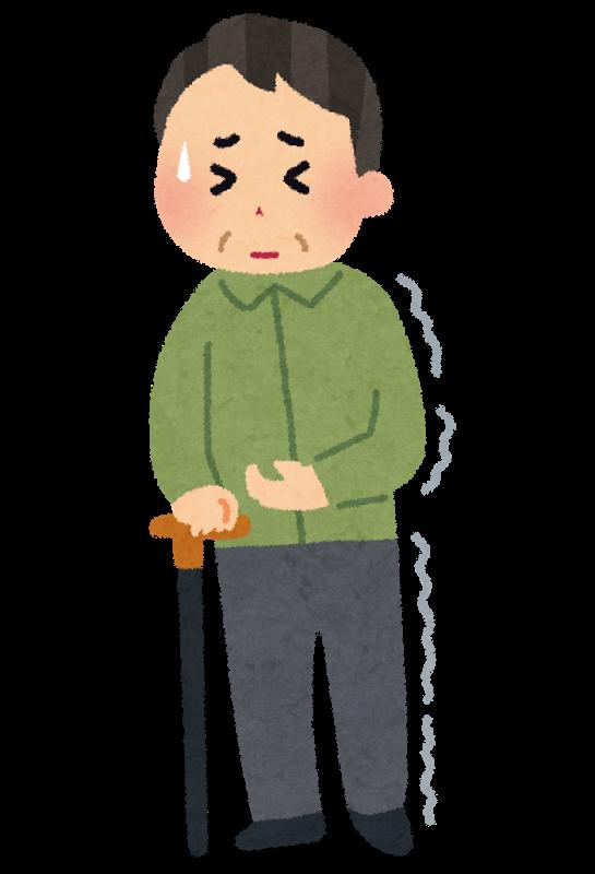 図:片麻痺の杖歩行